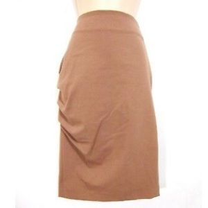 Brunello Cucinelli Pencil Skirt Ponte Knit Ruched